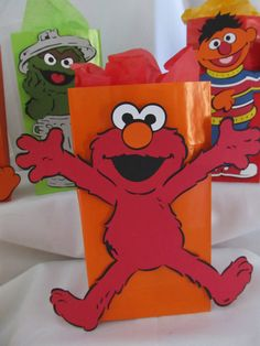 Elmo Party Birthday Package Kit by DreamComeTrueParties on Etsy, $60.00