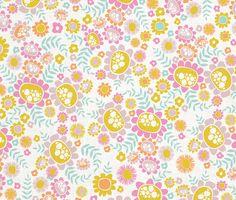Adorable floral pattern nonna illusteration design 2014