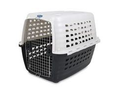 Petmate Compass Fashion Pet Kennel Carrier Chrome Door White 36 Inch