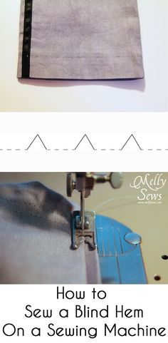 How to Sew a Blind Hem with your Sewing Machine - Melly Sews