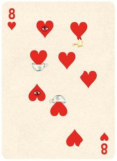 playing card illustration by Jonathan Burton.