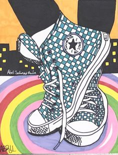 Students at Corsicana Middle School design their own shoes. Design Your Own Shoe Art Lesson Art Drawings For Kids, Drawing For Kids, Art For Kids, Middle School Art, Art School, Drawing Lessons, Art Lessons, Design Your Own Shoes, Chalk Pastel Art