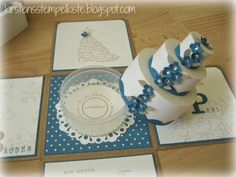 Kirsten stamp box: Explosionsbox to the wedding