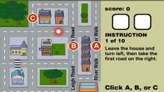 Destination Impossible Game: Great to review relative and absolute location.