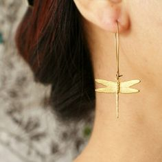 Dragonfly Earrings now featured on Fab.
