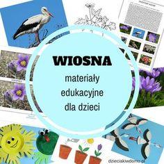Wiosna – zbiór materiałów edukacyjnych dla dzieci