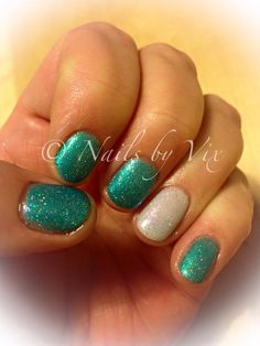 CND Shellac in Hotski to tchotchke with Dazzling Dance and Sizzling Sand additive