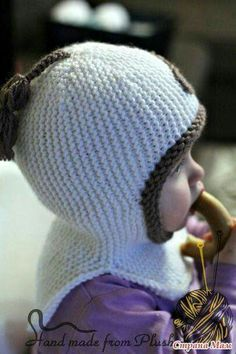 - Knit and Crochet - Awesome knitted and crocheted items and patterns. Baby Hats Knitting, Knitting For Kids, Crochet For Kids, Baby Knitting Patterns, Free Knitting, Crochet Baby, Knitted Hats, Knit Crochet, Crochet Patterns