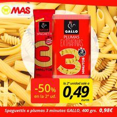 #Oferta de pasta GALLO, hasta el 30 de marzo! Para que prepares unos deliciosos platos italianos, unos spaguettis o unas plumas!  #Ahorro