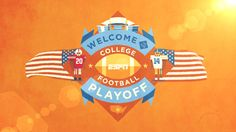 An animation created for ESPN's coverage of the all new College Football Playoff. http://espn.go.com/espn/feature/story/_/id/11388748/college-football-playoff-animation