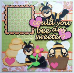 2 Premade Scrapbook Pages 12x12 Layout Paper by bljgravesstudio
