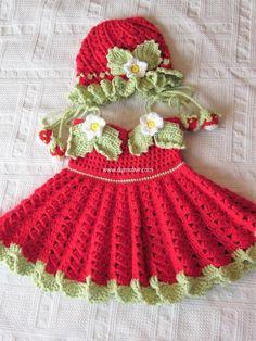 crochet baby dresses 21