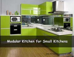 These simple kitchen design for small house are functional, efficient and high on. #ModularKitchenForSmallKitchens #ShreePaambanInterior