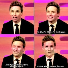 And then wooed us all with this perfect pick-up line. | 23 Times Eddie Redmayne Was A Gift We Didn't Deserve