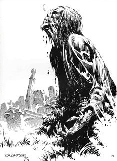 Bernie Wrightson (1948-Present) is an American artist known for his horror illustrations and comic books.