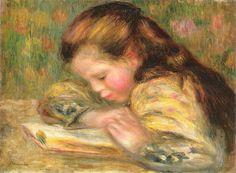 Risultati immagini per portrait painting children reading