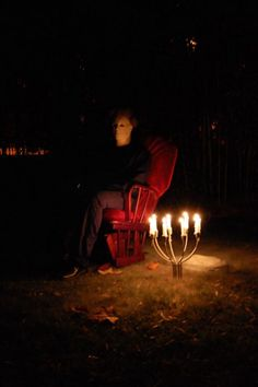 Michael Myers sitting on a chair will be the scariest thign to see in the yard