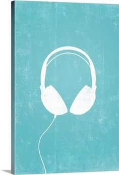 Headphones silhouette art