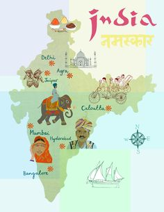 India map by Claudia Pearson