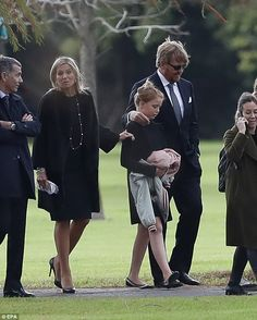 Dutch Queen Maxima Zorreguieta (2-L), and her husband, King Willem-Alexander (2-R), attended the funeral of her father, Jorge Zorreguieta, in the Memorial Cemetery of the locality of Pilar, Province of Buenos Aires, Argentina on Wednesday.