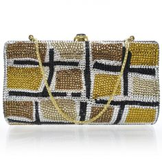 2dbb965e2495 This is the authentic JUDITH LEIBER Swarovski Crystal Minaudiere Clutch  Multicolor. This exceptional clutch is