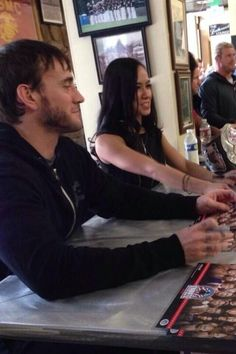 AJ Lee and CM Punk at Tribute to the Troops - AJ Lee Photo ...