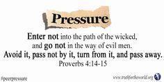 Sin tempting you? Just walk away. Proverbs 4:14-15 www.truthfortheworld.org