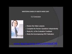 Get unlimited CPE at http://www.teachucomp.com/unlimitedCPE. A clip from Basis of Assets-CPE Edition: Further Reading .