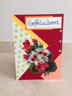 Vrolijke gebloemde verjaardagskaart! Happy floral birthday card! DIY