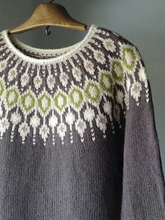 Thanks so much Jenn for the opportunity to testing this beautiful sweater! One modification - I done body and sleeves a bit shorter, because I'm a short person. Fair Isle Knitting Patterns, Knitting Designs, Knit Patterns, Icelandic Sweaters, Free Knitting, Pullover Sweaters, Free Pattern, Knit Crochet, Clothes