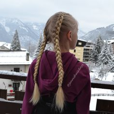 Dutch braids - braiding basics by Jenni's Hairdays.