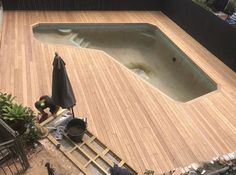 This 1970's pool got a makeover with 130mm Blackbutt 👊👍 Awesome fellas (📷 @woodley_projects )