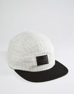 ASOS 5 Panel Cap With Textured Canvas Hats For Men 39ecd911954
