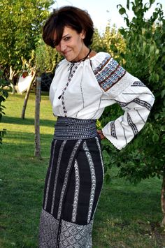 traditional Romanian costume, Bessarabia Folk Costume, Costumes, Romanian Women, Timisoara Romania, Ethnic Outfits, Folk Embroidery, Folk Fashion, Fashion Today, Fashion History