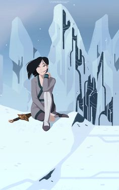 It's like a moving drawing I love this! #Disney #Mulan