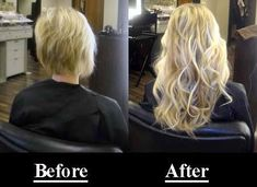 hair hair extensions Hair extensions before and aft Remy Hair, Hair Dos, Cabelo Com Mega Hair, Hair Extensions For Short Hair, Blonde Hair Extensions Before And After, Hair Extensions Tutorial, Blonde Balayage Highlights, Very Short Hair, Bleach Blonde