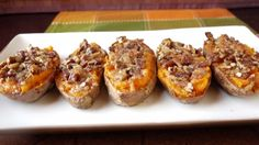 Twice-Baked Sweet Potatoes with Candied Bacon