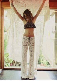 lace burn pants... maybe in a deep purple or red...