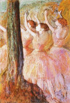 Edgar Degas Pink dancers c. 1895-98