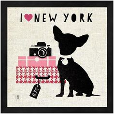 db226b8bbb Give your home a whimsical look with the cosmopolitan pooch theme of this  Metaverse Art framed