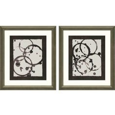 Bring a modern nuance to your décor with the Paragon Decor Astro Burst II Framed Wall Art - Set of 2 . These prints are framed and matted and. Framed Art Sets, Wall Art Sets, Framed Wall Art, Wall Art Prints, Framed Prints, Cardboard Crafts, Wall Art Pictures, Abstract Pattern, Canvas Art