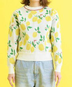 CHILD WOMAN(チャイルドウーマン)の「アモッサ レモンジャガードプルオーバー(ニット/セーター)」|詳細画像