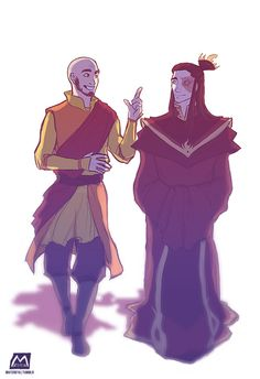 Avatar Aang and Fire Lord Zuko the dweebs, being all BFF and hanging out together, probably discussing stuff about Republic City and how awesome and cool it's gonna be (well, before sh*t got real of course ;XD )