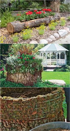 35 Creative DIY Planter Tutorials ( How To Turn Anything Into A Planter! ) - About Garden and Flowers Wood Planters, Outdoor Planters, Garden Planters, Outdoor Gardens, Planter Ideas, Vegetable Planters, Hanging Planters, Hanging Baskets, Vegetable Gardening