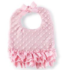 Mud Pie Pink Minky Baby Bib from Elizabeth's Embellishments