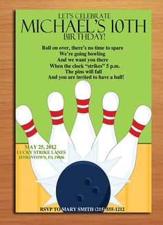 18 Best bowling party images in 2014 | Bowling party