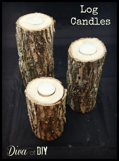 These DIY Log Candles Are Perfect For Your Home