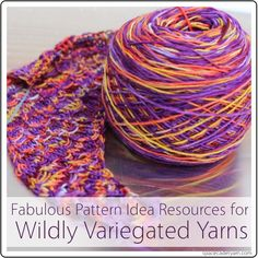 Fabulous Pattern Idea Resources for Wildly Variegated Yarns, from SpaceCadet