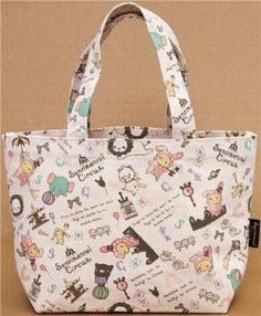 cute tote bag with bunny Shappo & all Sentimental Circus animals, cute canvas linen tote bag with bunny Shappo & all Sentimental Circus animals, , , Fabric Wallet, Fabric Bags, Cute Canvas, Cute Handbags, Cute Tote Bags, Cloth Bags, Cute Designs, Patch, Purses And Bags