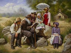 Sunday School on the Prairie,   by Alfredo Rodriguez